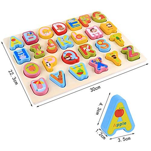 0best Mattoncini Legno 2 Pezzi Numeri Di Lettere Abc Colorati Puzzle In Legno Impilabili Per La Scuola Materna Educazione E Sviluppo Della Prima Infanzia 0 5