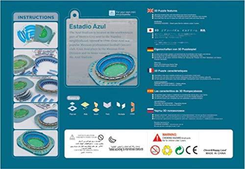 3d Estadio Stadio Azteca Puzzle Modello Piano Casa Jigsaw Modello Puzzle Per Bambini Giochi Fan Memento 34 275 55cm 0 1