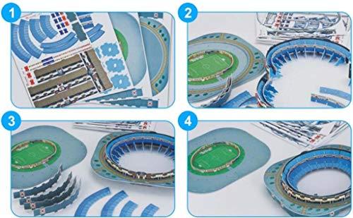 3d Estadio Stadio Azteca Puzzle Modello Piano Casa Jigsaw Modello Puzzle Per Bambini Giochi Fan Memento 34 275 55cm 0 2