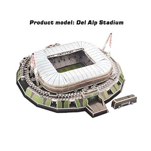 3d Puzzle Allianz Stadium Turin Stadio 3d Puzzle Kit Di Costruzione Del Modello Dello Stadio Per Bambini Adulti 0 5