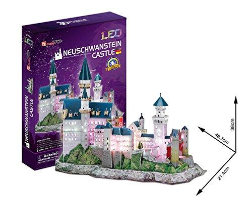 3d Puzzle Castello Di Neuschwanstein Led Luce Cubicfun Cubic Fun Light Castle Schloss Baviera Germania 0 0
