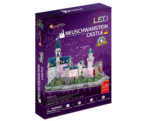 3d Puzzle Castello Di Neuschwanstein Led Luce Cubicfun Cubic Fun Light Castle Schloss Baviera Germania 0 1