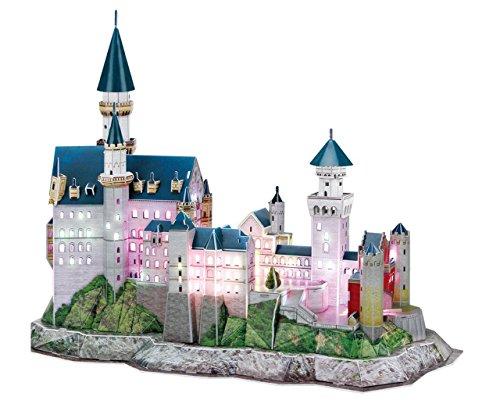 3d Puzzle Castello Di Neuschwanstein Led Luce Cubicfun Cubic Fun Light Castle Schloss Baviera Germania 0