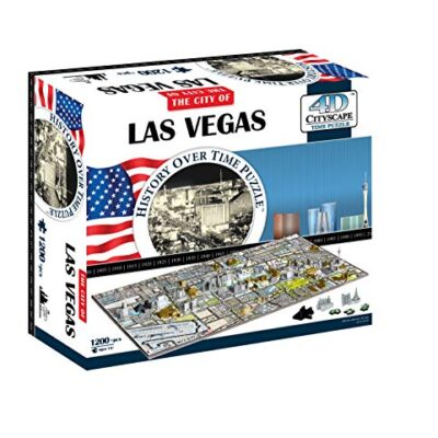 4d Cityscape Las Vegas Puzzle Multicolore Standard 40020 0
