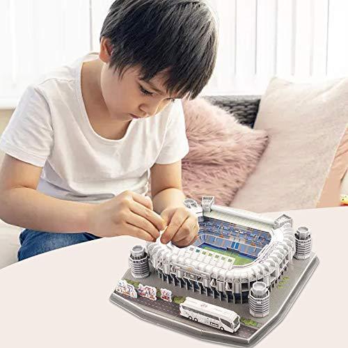 Ab Estadio Santiago Bernabeu Modello Di Puzzle 3d Kit Di Puzzle 3d Di Alta Qualita Per La Costruzione Di Stadio Per Bambini Regalo Per Adulti 0 2