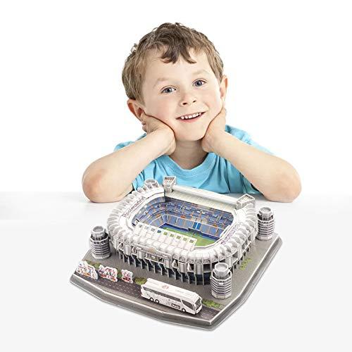 Ab Estadio Santiago Bernabeu Modello Di Puzzle 3d Kit Di Puzzle 3d Di Alta Qualita Per La Costruzione Di Stadio Per Bambini Regalo Per Adulti 0 4