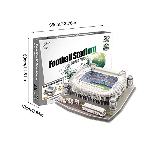 Ab Estadio Santiago Bernabeu Modello Di Puzzle 3d Kit Di Puzzle 3d Di Alta Qualita Per La Costruzione Di Stadio Per Bambini Regalo Per Adulti 0 5