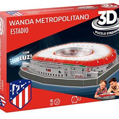 Atletico De Madrid Puzzle 3d Stadio Wanda Metropolitano Con Luce 14061 0
