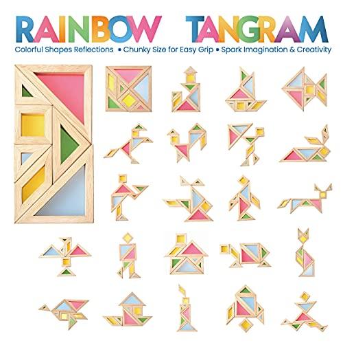 Bohs Arcobaleno Tangram Con Biglietti Di Attivita Puzzle Di Dimensioni Grosse Per Bambini E Bambini 0 0