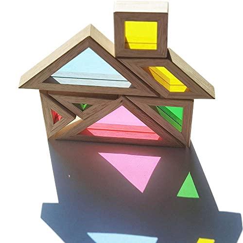 Bohs Arcobaleno Tangram Con Biglietti Di Attivita Puzzle Di Dimensioni Grosse Per Bambini E Bambini 0 4