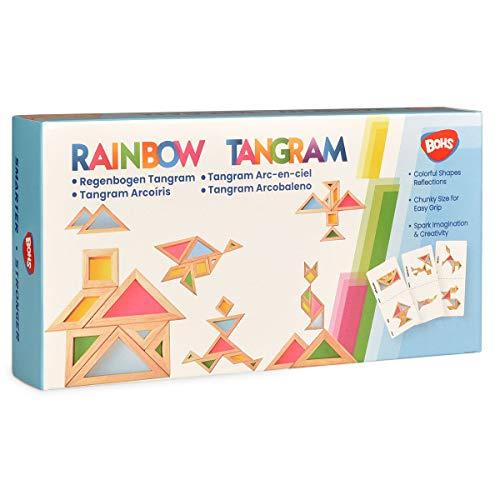 Bohs Arcobaleno Tangram Con Biglietti Di Attivita Puzzle Di Dimensioni Grosse Per Bambini E Bambini 0