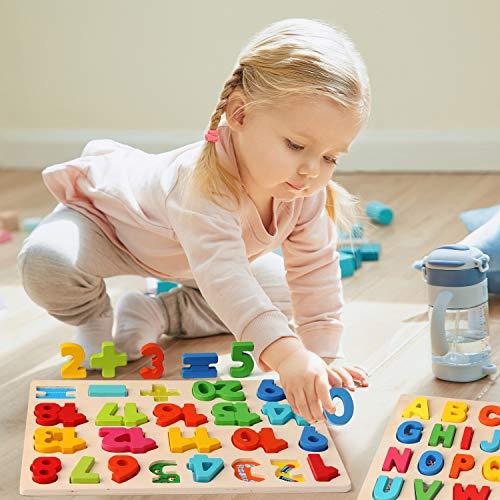 Ballery Puzzle Di Legno 3 Pezzi Blocchi Alfabeto In Legno Abc Puzzle Lettere Numero Educativo Giocattolo Giochi Set Per Bambini Ragazze Per Ragazzi 0 2