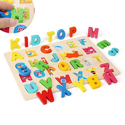 Ballery Puzzle Di Legno 3 Pezzi Blocchi Alfabeto In Legno Abc Puzzle Lettere Numero Educativo Giocattolo Giochi Set Per Bambini Ragazze Per Ragazzi 0 5