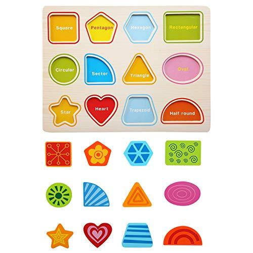 Bellestyle Giocattoli Educativi 2 Anni Blocchi Alfabeto In Legno Lettere Abc Numeri Forme Puzzle Alfabeto Giochi Montessori 1 Anno Giocattolo Educativo Per Bambini Ragazze Ragazzi 3 Pack 0 5