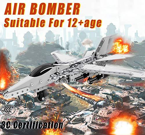 Caleson Fighter Puzzle In Metallo 3d Kit Di Costruzione Di Modelli Rompicapo Con Taglio Laser Puzzle Fai Da Te E Kit Modello 3d 0 0