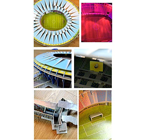 Campo Da Calcio Brasile Maracana Con Luci A Led Modello Artificiale Modello Da Stadio Sportivo 3d Fans Souvenir Puzzle Fai Da Te 39 23 4 0 2