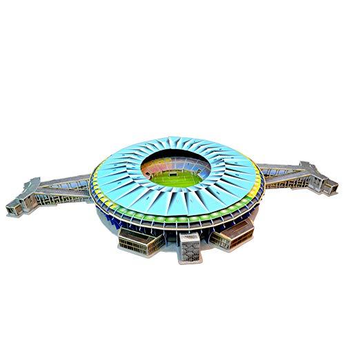 Campo Da Calcio Brasile Maracana Con Luci A Led Modello Artificiale Modello Da Stadio Sportivo 3d Fans Souvenir Puzzle Fai Da Te 39 23 4 0 3