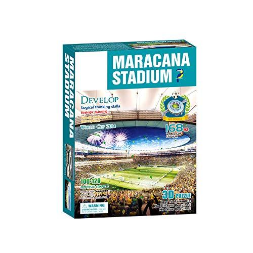 Campo Da Calcio Brasile Maracana Con Luci A Led Modello Artificiale Modello Da Stadio Sportivo 3d Fans Souvenir Puzzle Fai Da Te 39 23 4 0 4