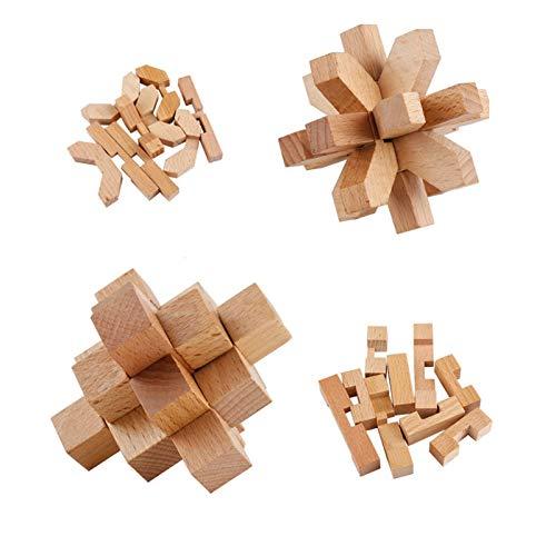 Coriver 12 Pezzi Rompicapo In Legno Puzzle Logica Puzzle Iq Test Challenge Gamestoy 3d Puzzle Ad Incastro Gioco Di Sbrogliamento Per Bambini Adolescenti Adulti 0 1