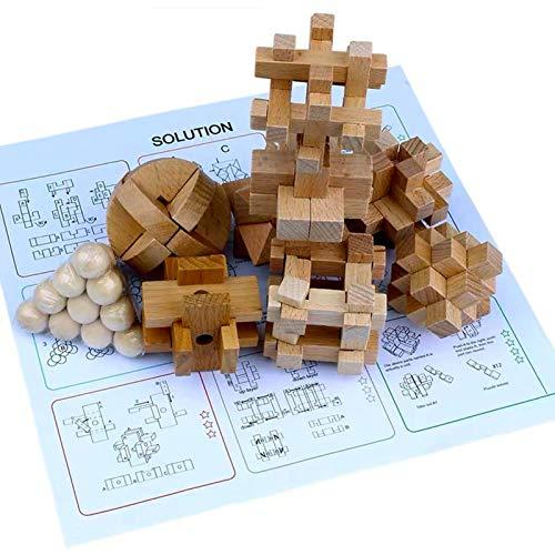 Coriver 12 Pezzi Rompicapo In Legno Puzzle Logica Puzzle Iq Test Challenge Gamestoy 3d Puzzle Ad Incastro Gioco Di Sbrogliamento Per Bambini Adolescenti Adulti 0 2