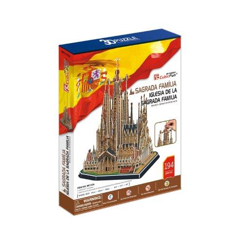 Cubic Fun Cattedrale Di Sagrada Familia Modellino Puzzle 3d Multicolore Mc153h 0 0