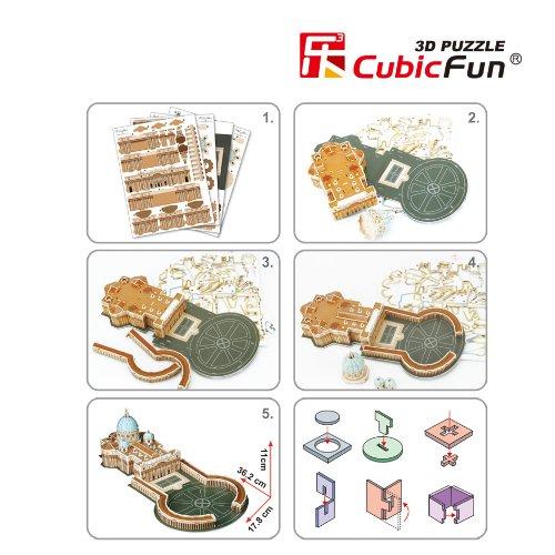 Cubic Fun Puzzle 3d Modellino Souvenir C718h 0 2