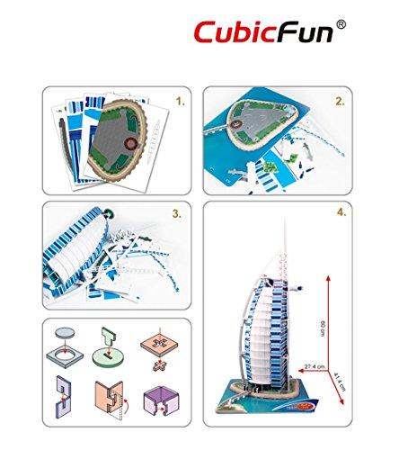 Cubic Fun Puzzle 3d Modellino Souvenir Mc101h 0 5