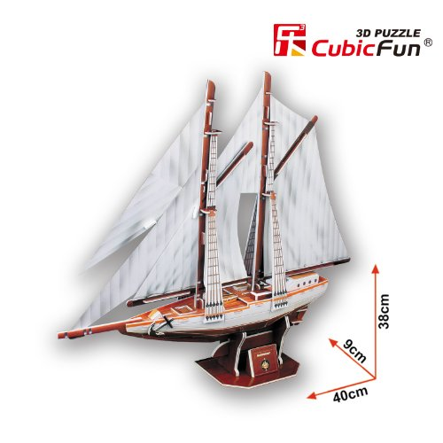 Cubic Fun Puzzle 3d Modellino Souvenirnavenavi T4007h 0 1