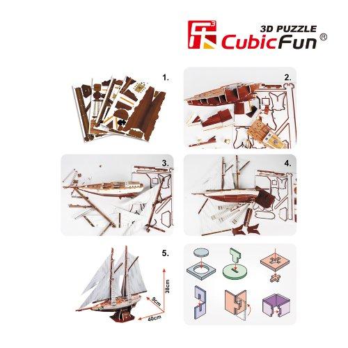 Cubic Fun Puzzle 3d Modellino Souvenirnavenavi T4007h 0 2