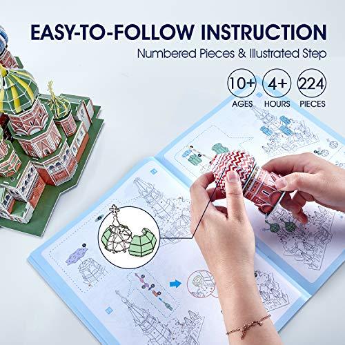 Cubicfun Cattedrale Di San Basilio Modellino Puzzle 3d Multicolore 771l519 0 5