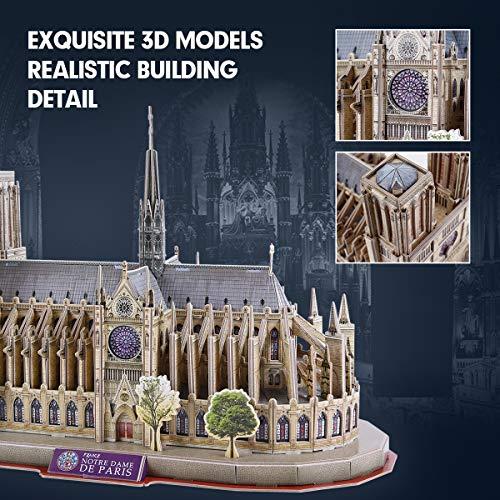 Cubicfun National Geographic Puzzle 3d Notre Dame De Paris 128 Pezzi 0 2