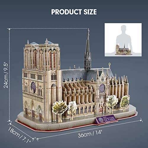 Cubicfun National Geographic Puzzle 3d Notre Dame De Paris 128 Pezzi 0 5