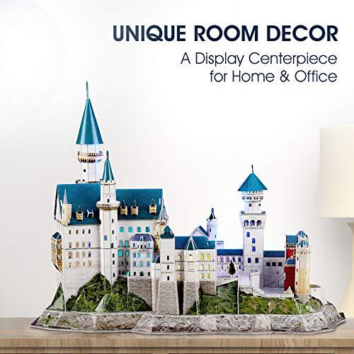 Cubicfun Puzzle 3d Castello Di Neuschwanstein Con Led Germania Modello Di Architettura Kit Regali Di Souvenir Per Adulti E Bambini 128 Pezzi 0 4