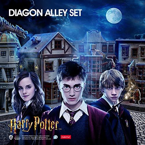 Cubicfun Puzzle 3d Harry Potter Collezione 4 In 1 Qualita Quidditch Supplies Ollivanders Wand Shop Weasleys Wizard Wheezes E Gringotts Bank 274 Pezzi 0 0