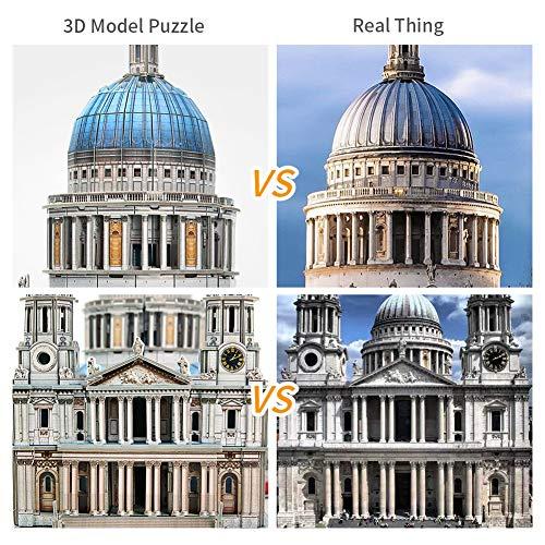 Cubicfun Puzzle 3d Londra Landmark Grande Architettura Kit Di Modellismo Giochi Rompicapo 3d Puzzle Impegnativo Per Adulti Cattedrale Di St Paul 643 Pezzi 0 0