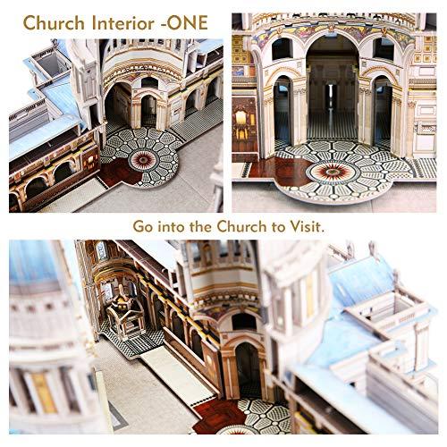 Cubicfun Puzzle 3d Londra Landmark Grande Architettura Kit Di Modellismo Giochi Rompicapo 3d Puzzle Impegnativo Per Adulti Cattedrale Di St Paul 643 Pezzi 0 2