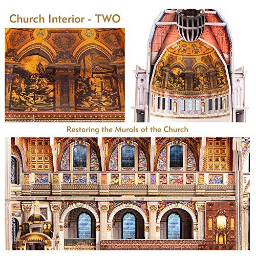 Cubicfun Puzzle 3d Londra Landmark Grande Architettura Kit Di Modellismo Giochi Rompicapo 3d Puzzle Impegnativo Per Adulti Cattedrale Di St Paul 643 Pezzi 0 3