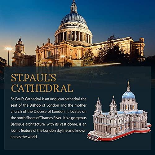Cubicfun Puzzle 3d Londra Landmark Grande Architettura Kit Di Modellismo Giochi Rompicapo 3d Puzzle Impegnativo Per Adulti Cattedrale Di St Paul 643 Pezzi 0 4