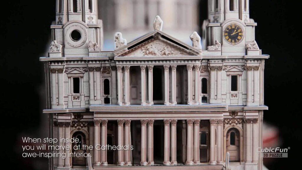 Cubicfun Puzzle 3d Londra Landmark Grande Architettura Kit Di Modellismo Giochi Rompicapo 3d Puzzle Impegnativo Per Adulti Cattedrale Di St Paul 643 Pezzi 0 5