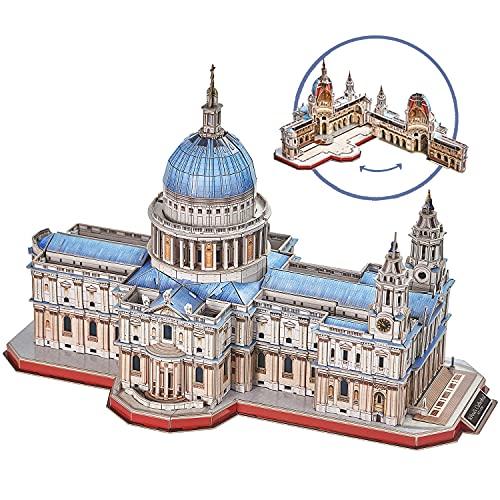 Cubicfun Puzzle 3d Londra Landmark Grande Architettura Kit Di Modellismo Giochi Rompicapo 3d Puzzle Impegnativo Per Adulti Cattedrale Di St Paul 643 Pezzi 0