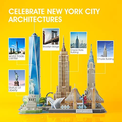 Cubicfun Puzzle 3d New York Cityline Architettura Kit Di Modellismo Souvenir Per Bambini E Adulti 0 0