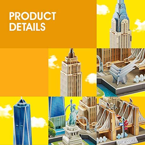 Cubicfun Puzzle 3d New York Cityline Architettura Kit Di Modellismo Souvenir Per Bambini E Adulti 0 2
