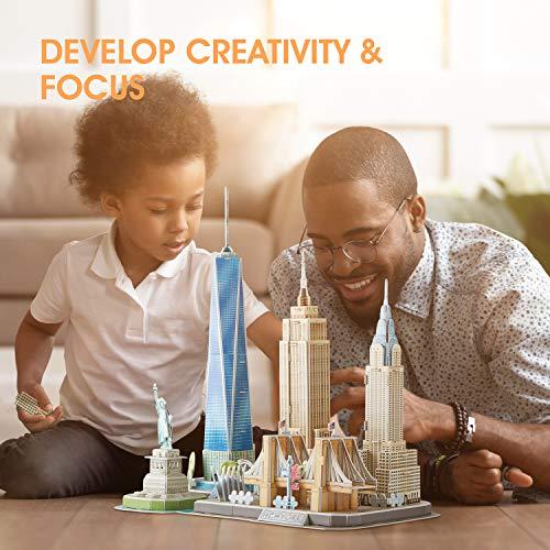 Cubicfun Puzzle 3d New York Cityline Architettura Kit Di Modellismo Souvenir Per Bambini E Adulti 0 3