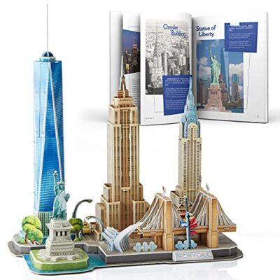 Cubicfun Puzzle 3d New York Cityline Architettura Kit Di Modellismo Souvenir Per Bambini E Adulti 0
