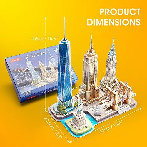 Cubicfun Puzzle 3d New York Cityline Architettura Kit Di Modellismo Souvenir Per Bambini E Adulti 0 5