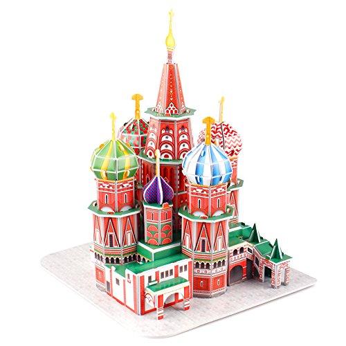 Cubicfun Puzzle 3d Russia Kit Modello Di Costruzione Cattedrale Di San Basilio 92 Pezzi 0 0