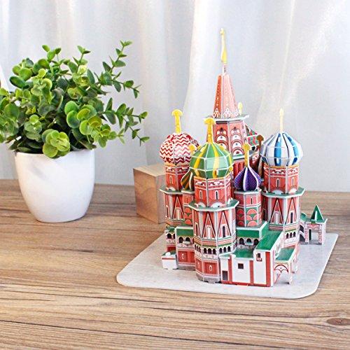 Cubicfun Puzzle 3d Russia Kit Modello Di Costruzione Cattedrale Di San Basilio 92 Pezzi 0 1