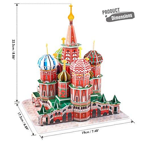 Cubicfun Puzzle 3d Russia Kit Modello Di Costruzione Cattedrale Di San Basilio 92 Pezzi 0 4