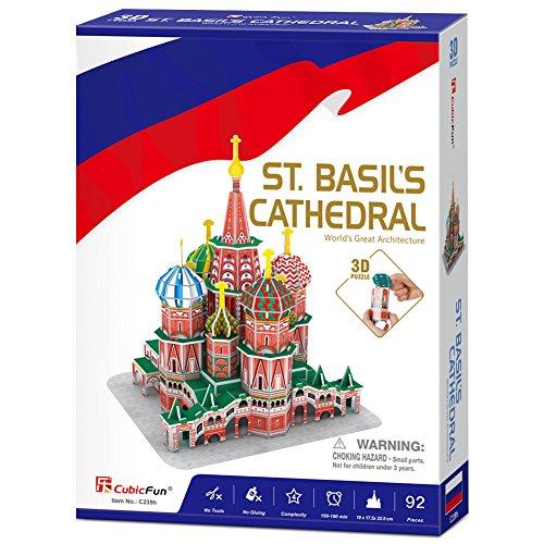 Cubicfun Puzzle 3d Russia Kit Modello Di Costruzione Cattedrale Di San Basilio 92 Pezzi 0 5