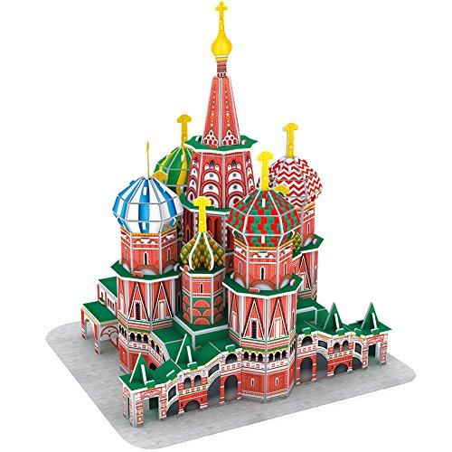 Cubicfun Puzzle 3d Russia Kit Modello Di Costruzione Cattedrale Di San Basilio 92 Pezzi 0